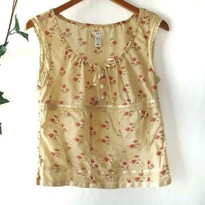 Old Navy sleeveless floral peasant top sz Small